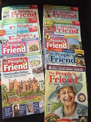 The Peoples  friend magazine job lot of 10