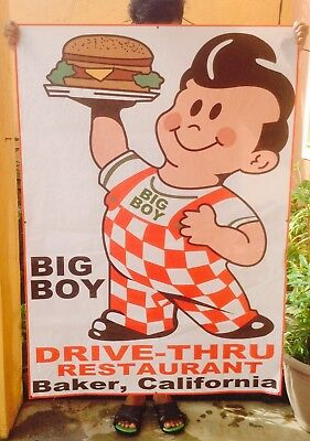 53 Inch Big Boy Hamburger Restaurant Sign Banner Baker California Banner Sign  R