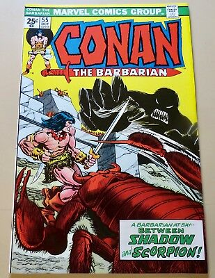 18-C1187: Conan the Barbarian # 55, 1975, NM+ 9.6! WHITE paged GEM! See Promo!