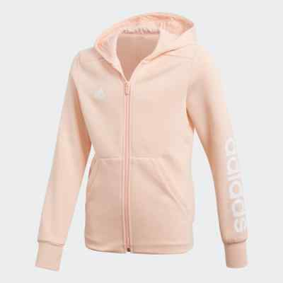 Adidas Kids Hoodie Running Essentials Athletic Logo Training Girls School DN8424