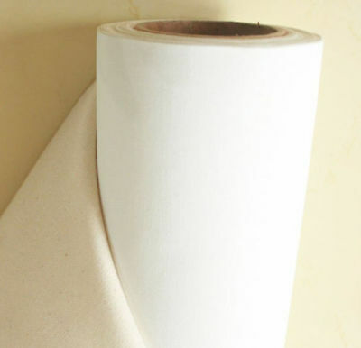 "100% Poly Cotton Fabric Sheeting Solid White Color - 94"" Sheeting Fabric By Roll"