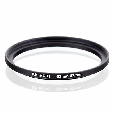 RISE(UK) 62-67 62-67mm 62mm to 67mm Matel Step Up Ring Filter Adapter black