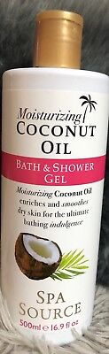 Moisturising Coconut Oil Bath And Shower Gel 500ml