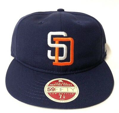 New Era San Diego Padres Vintage Team Wool Low Profile 5950 Fitted Hat Retro 118f835a37e2