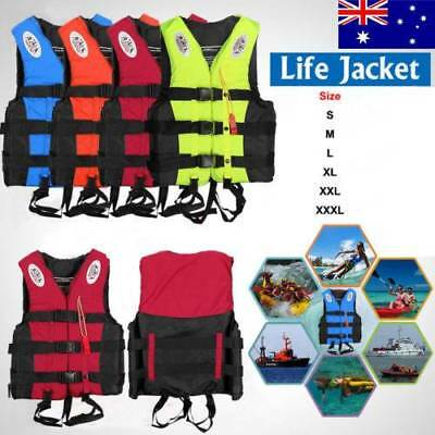Adult Kids Life Jacket Kayak Ski Buoyancy Aid Sailing Watersport Lifesaving Vest