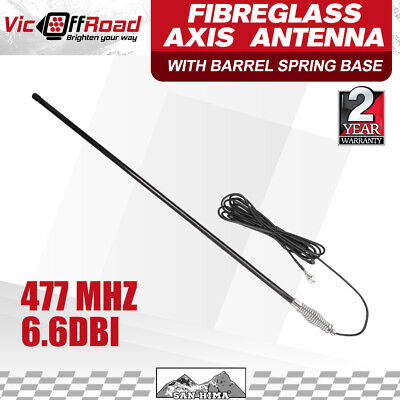 Antenna For Uhf Cb Radio 6.6Dbi  Heavy Duty Hi Gain Bull Bar Fiberglass San Hima