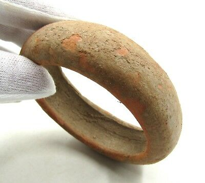 Authentic Ancient Indus Valley Terracotta Bracelet - L355