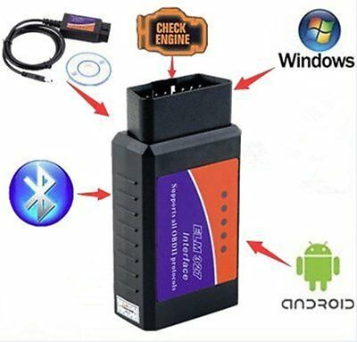 V03H2-1 OBDII OBD2 Bluetooth Auto Car Diagnostic Interface Scanner  GH
