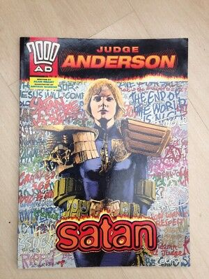 2000ad Judge Anderson SATAN. Judge Dredd book