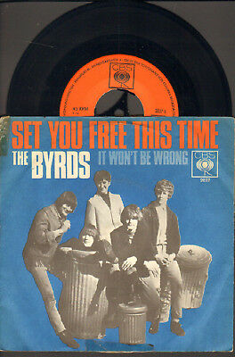 """Byrds-7""""-45-Ps- Set You Free This Time- Cbs-Germany- 1966"""