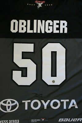 Kölner Haie Trikot 18/19 Pre Season HOME, #50 OBLINGER Game-Worn Gr. XL