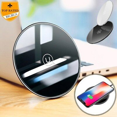10W Fast Qi Wireless Charger Charging Pad For Samsung Note 9 S9+ iPhone XS Max