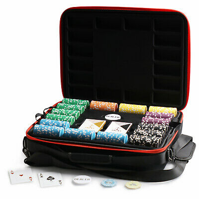 1000 Chips Poker Game Set Jacks Casino 11.5g Chips Viper Case Plastic Cards