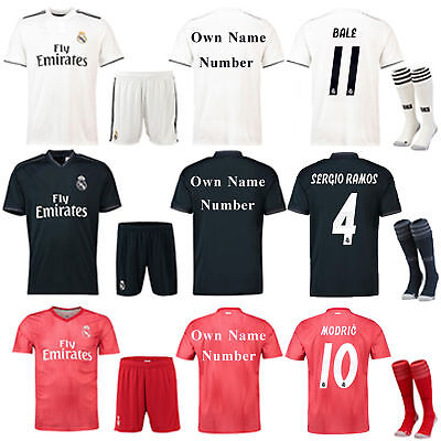 2018/2019 Football Kits Club Kids Adult Jersey Sport Suit For Men S,M,L,3-12 Yrs