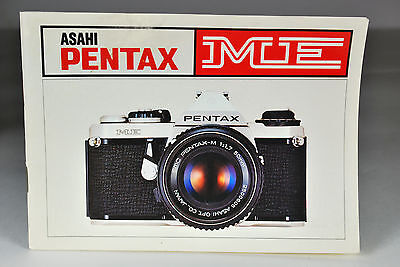 Pentax ME Instruction Manual Very Good Condition