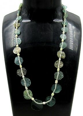 Authentic Ancient Roman Glass Beaded Necklace - G657