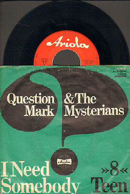 """Question Mark&the Mysterians-7""""-45-Ps- I Need Somebody-Rote Ariola-Germany-1966"""