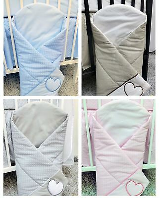 Baby Swaddling / Swaddle Wrap Newborn Embroidered Cotton Quilt Blanket