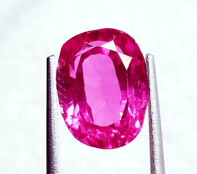 Loose Gemstone 8.72 Ct Natural Pink Sapphire Certified Oval Shape