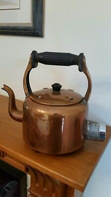 Old copper electric plug in kettle