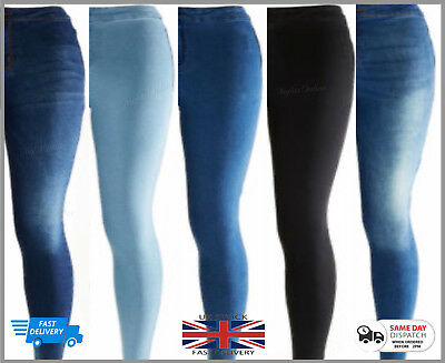 New WOMENS KM HIGH WAISTED STRETCHY SKINNY JEANS LADIES JEGGINGS PANTs UK6 TO 12