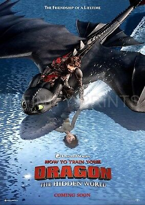 How to train Your Dragon Hidden World Movie Film Poster A2 A3 A4A5