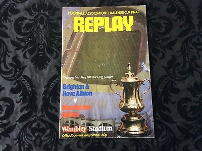 1983 F.A.Cup Final Replay - Manchester United v Brighton & Hove Albion
