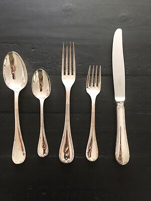 Rubans by Christofle Paris France Silver Plated 5-pc Place Setting Dinner