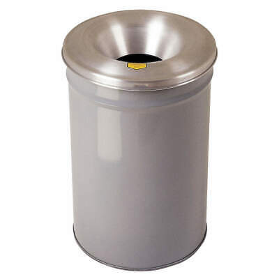 JUSTRITE Trash Can,Round,30 gal.,Gray, 26630G, Gray