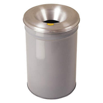 JUSTRITE Trash Can,Round,6 gal.,Gray, 26612G