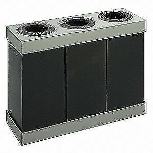 SAFCO Plastic Desk Recycling Container,Black,84 gal., 9798BL, Black