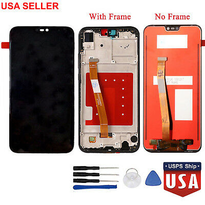 LCD Display Touch Screen Digitizer Replacement+Frame For Huawei P20 Lite OEM US