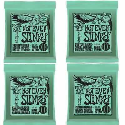 4 sets Ernie Ball Not Even Slinky Nickel Wound Set Electric Guitar Strings 12-56