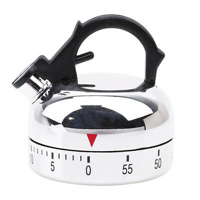 Kitchen Teapot Shaped Clockwork Timer Counting Counter Down Timer Alarm LH