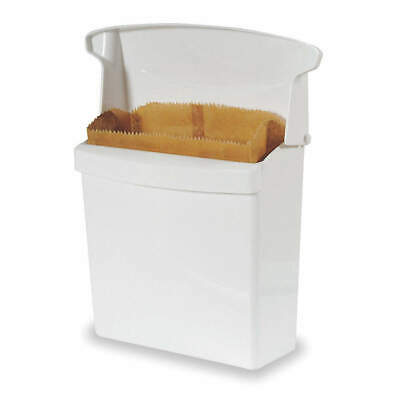 RUBBERMAID Plastic Sanitry Napkn Rcptcl,12-1/2In.x10-3/4In., FG614000WHT, White