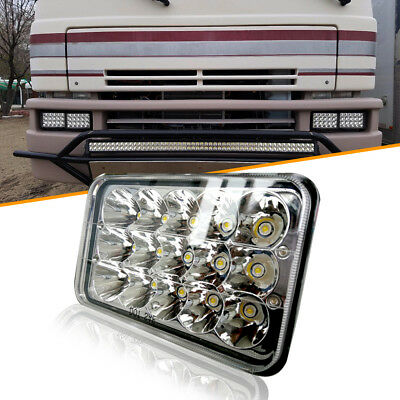 1PC 4x6'' Crystal Clear Sealed Beam LED Headlight Hi-Low Beam CREE Projector LED