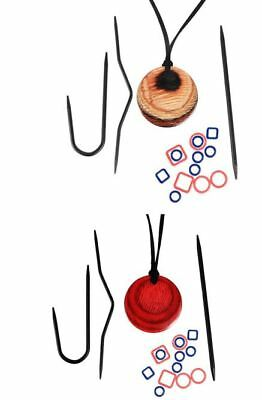 KnitPro Row Magnetic Knitter's Necklace Kit with Stitch Markers & Cable Needles