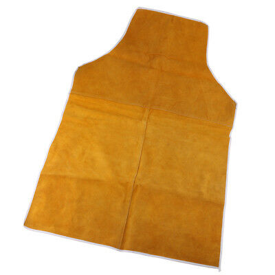 90cm Yellow Leather Welding Coat Apron Protective Clothes Apparel for Welder
