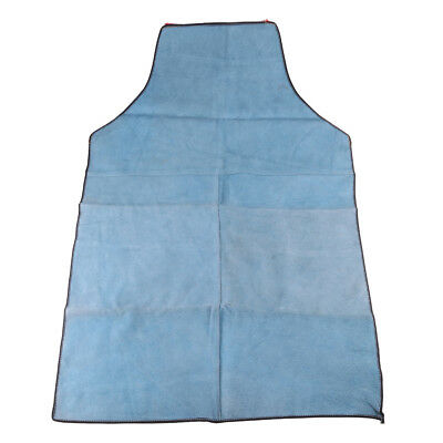 90cm Blue Leather Welding Coat Apron Protective Clothes Apparel for Welder