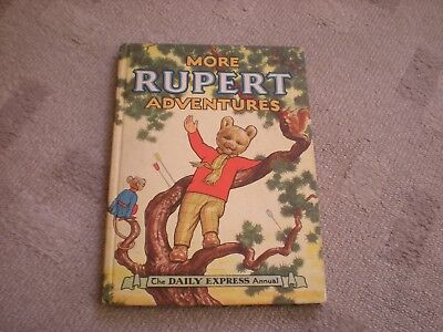 1952 MORE RUPERT ADVENTURES The DAILY EXPRESS Annual