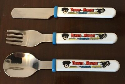 Dennis The Menace And Gnasher Childrens 3 Piece Cutlery Set