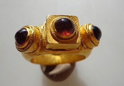Medieval Gold Triple Bezel Ring.Circa 13th-14th c AD.