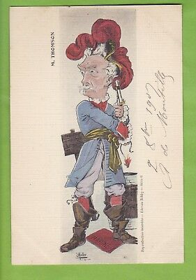Cpa Illustrateur E.muller-Satire Politique-Thomson Ministre Marine 1905-1908