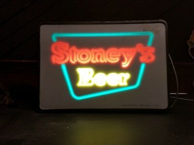 STONEYS Beer Lighted Sign - Works well - Smithton, PA