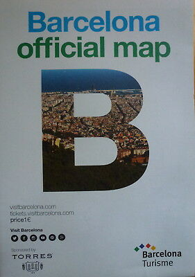 BARCELONA City Map - Metro Map - Free UK Postage