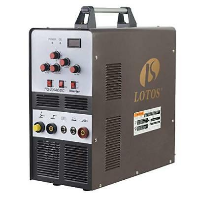 LOTOS TIG200 200A AC/DC Aluminum Tig/Stick Welder Square Wave Inverter with and