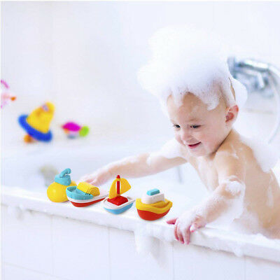 4pcs Baby Bathing Floating Boat Toys Infant Kids Children Swimming Pool Toy Gift