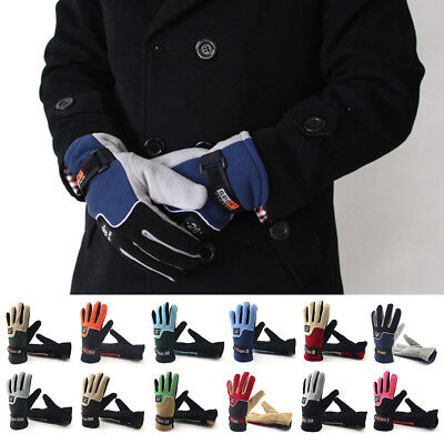 Winter Thermal Warm Gloves Fleece Thinsulate Motorcycle Cycling Driving Working