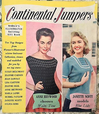 HOLLYWOOD MOVIE STARS MODEL - CONTINENTAL JUMPERS - 1950s KNITTING PATTERN BOOK