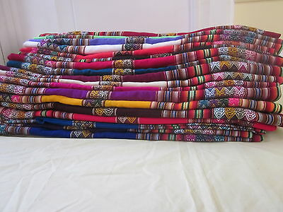 NEW PERUVIAN ANDEAN BLANKET,THROW,TABLE CLOTH 120 x 210 cms